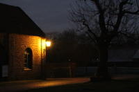 Freilichtmuseum im Dunkeln