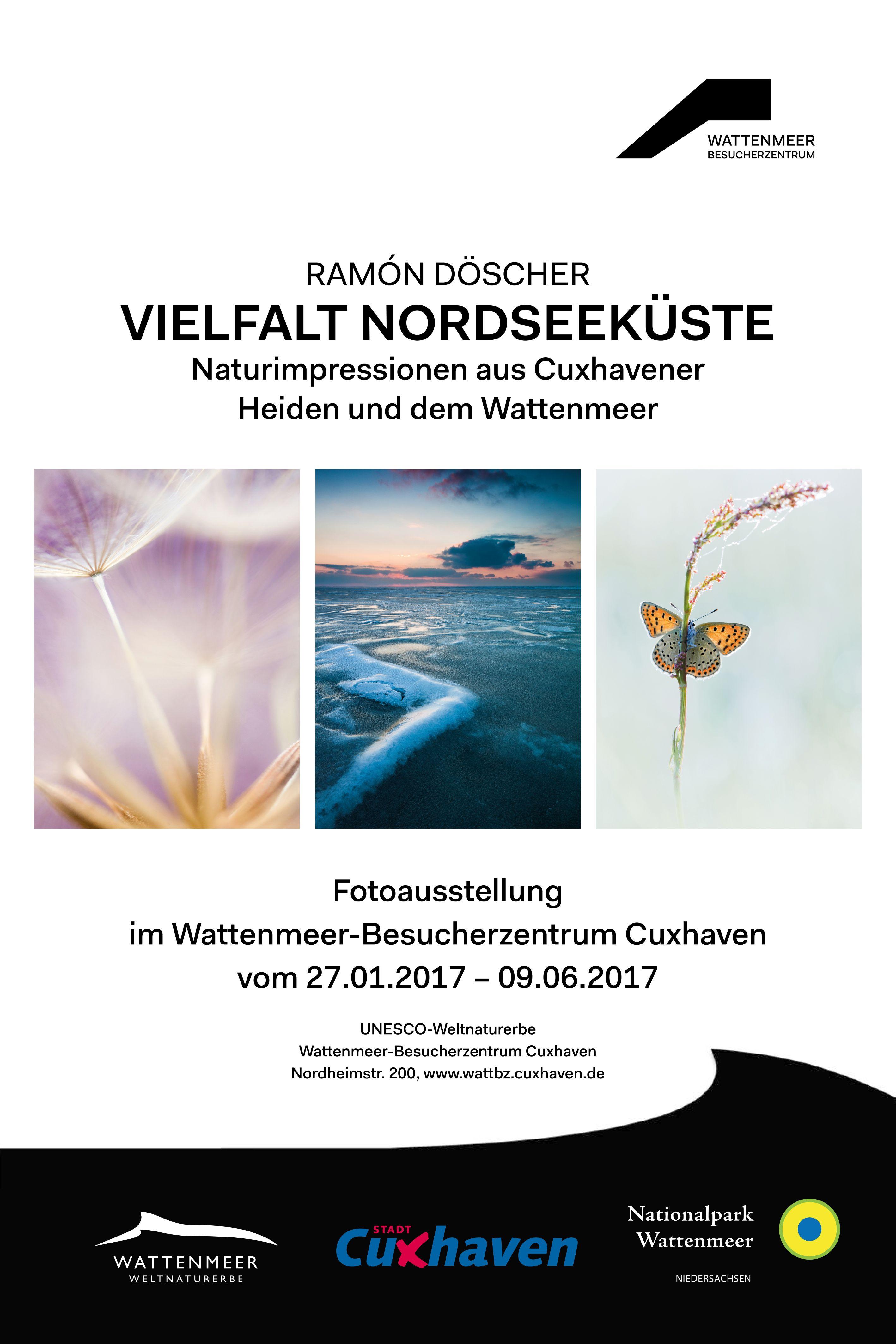 """Sonderausstellung """"Vielfalt Nordseeküsten – Naturimpressionen aus Cuxhavener Heiden und dem Wattenmeer""""  - Vernissage am 27. Januar um 17 Uhr im WattBz"""