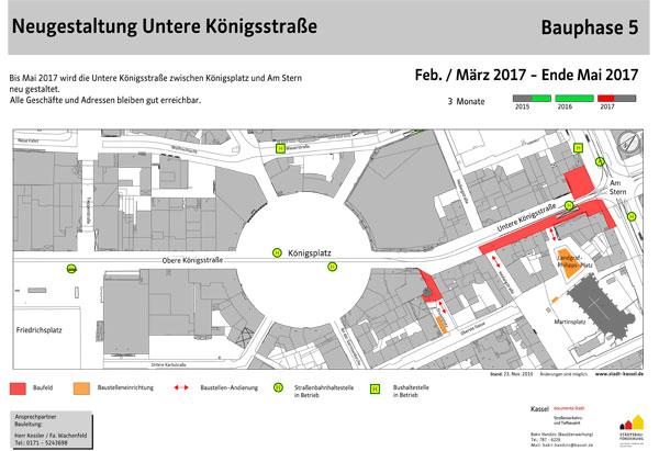 Neugestaltung Untere Königsstraße, Bauphase 5