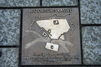 Bronzetafel Stadtmauer Untere Königsstraße