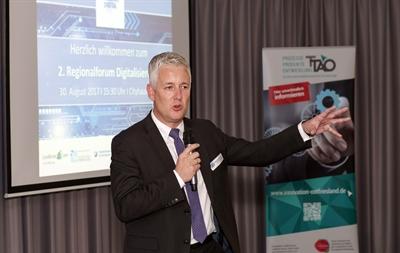 Vorschauversion, Landrat Matthias Groote moderierte das zweite Regionalforum