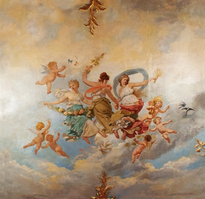 ©  - Deckengemälde im Roten Saal, Schloss Philippsruhe