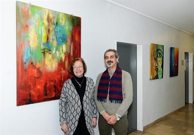 Jafar Shekho und Bürgermeisterin Beate Vilhjalmsson
