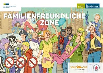 Plakat Familienfreundliche Zone Rosenmontag