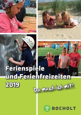 Ferienspiele und Ferienfreizeiten 2019 - Covermotiv (Stadt Bocholt)