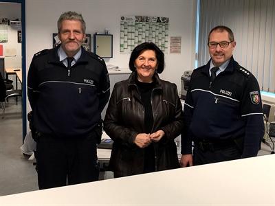 Landrätin in der Polizeiwache Werl