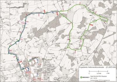 Erster Halbmarathon in Bocholt - Strecke