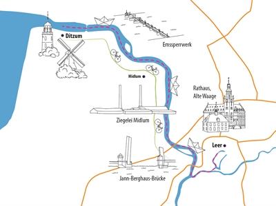 Vorschauversion, Karte der Minikreuzfahrt-Tour