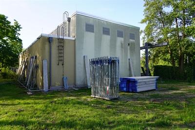 "Kooperation ""Gemeinsam an der Lippe"": Neugestaltung Fassade Pumpwerk Schölzbach Dorsten (5/2020)"