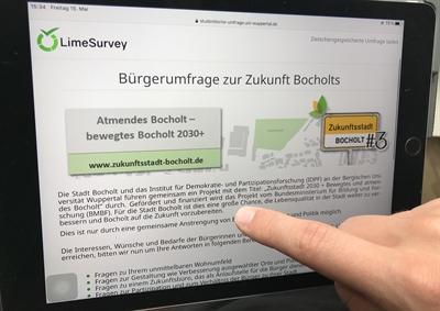 Zukunftsstadt Screenshot Online-Umfrage