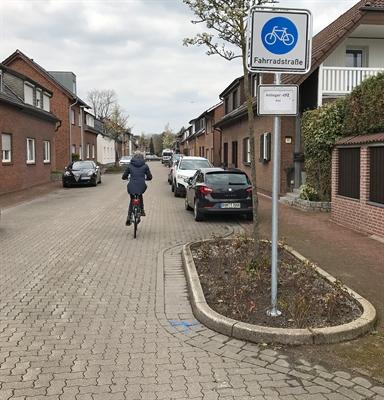 Vereinsstraße = Fahrradstraße