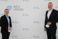 Dezernent Jens Ernesti mit Landrat Dr. Andreas Coenen