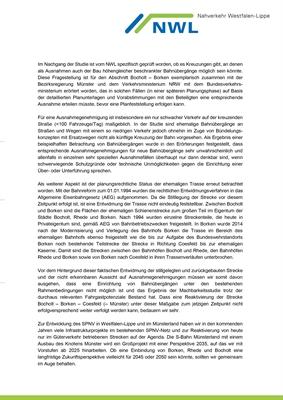 Schreiben NWL Schienenstrecke Bocholt - Borken - Coesfeld (- Münster), Seite 2