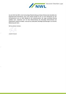 Schreiben NWL Schienenstrecke Bocholt - Borken - Coesfeld (- Münster), Seite 3