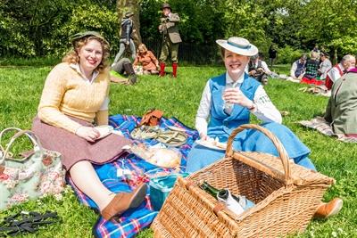 Britisches Picknick Stockfoto