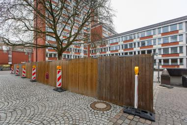 Bauzaun Stadthaus 1 Syndikatplatz