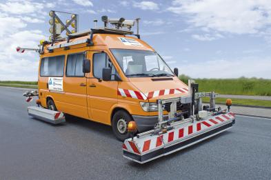 Messfahrzeug Straßenzustand
