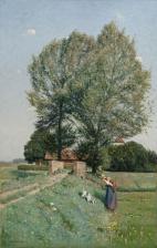 Otto Modersohn: Sommerfreuden vor Haus Kump
