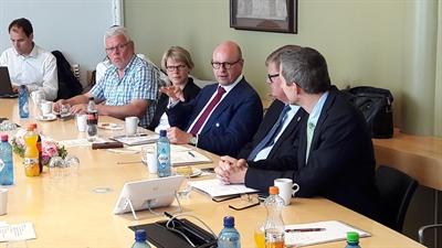 Diskussion in der Uni Kristiansand