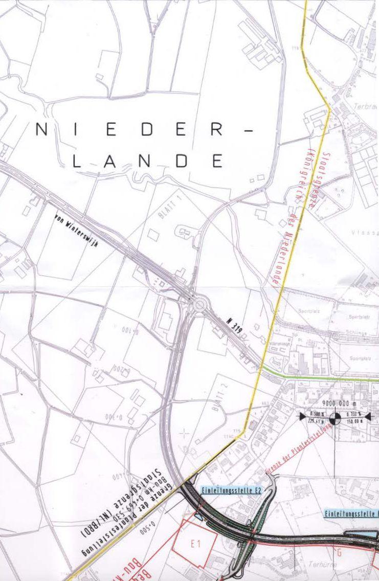 © Gemeinde Südlohn - Plan der Umgehung Oeding auf niederländischer Seite