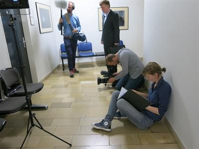 Dreharbeiten Presseamt 2