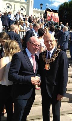 OB Lewe und Stadtpräsident Zuk