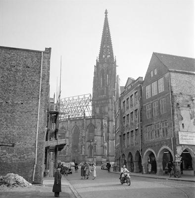 Blick auf Lambertikirche 1953
