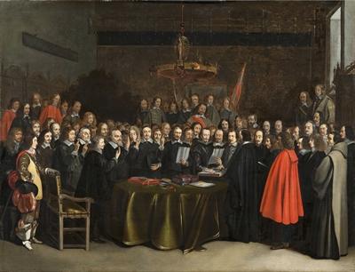 Beschwörung Teilfriede Spanien - Niederland 1648