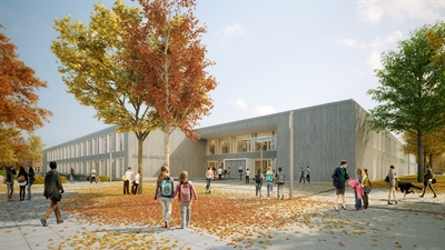 Skizze Haupteingang Mathilde-Anneke-Gesamtschule