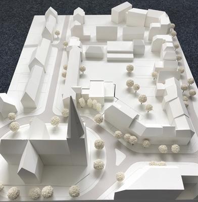 Modell Kreuzschule mit Anbau