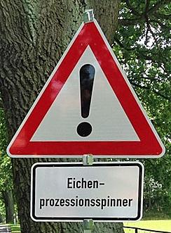 ©  - Eichenprozessionsspinner-Warnschild