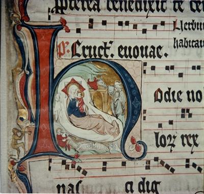 """©  - Handschriften Kloster Paradiese """"Geburt Jesu"""""""