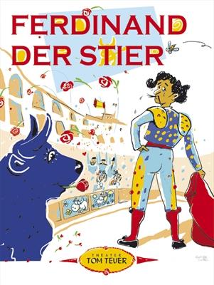 © Theater Tom Teuer - Auf dem Plakat sind ein Stier und ein Torereo zu sehen, die sich ansehen.