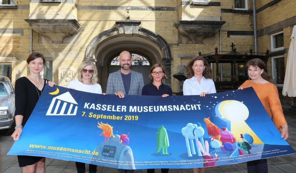 Die Kasseler Museumsnacht 2019 stellen vor: Kulturdezernentin Susanne Völker, Carola Metz, Dr. Dirk Pörschmann, Johanna Köhler, Lena Pralle und Andrea Behrens