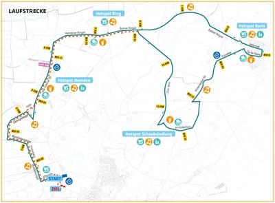 Halbmarathon: Streckenplan