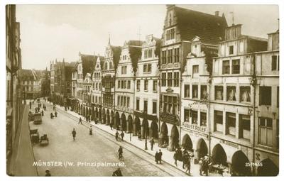 Münster auf alten Postkarten- Prinzipalmarkt 1910