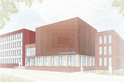 © Stadt Borken - Vorbereitungen für den Neubau des Stadtarchivs haben begonnen