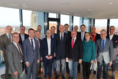 Stadtverwaltungsvorstände Münster und Enschede