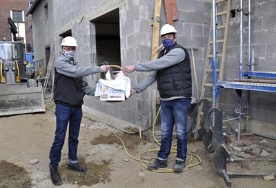 Geschenkkorb für die Bauarbeiter