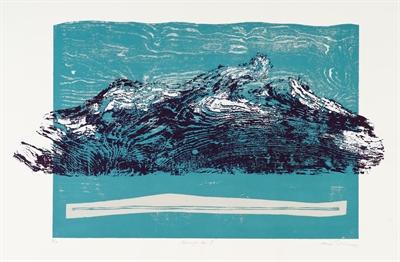 ©  - Ahlrich van Ohlen, Bewegte See II, 1999, Holzschnitt, 78 x 107 cm, Foto: Jürgen Bambrowicz, © Kunsthaus Leer