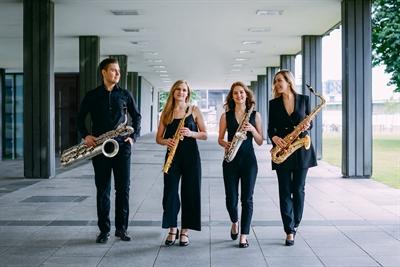 """Das Kölner Eternum Saxophonquartett gestaltet das Auftaktkonzert der Reihe """"Best of NRW"""" in Raesfeld."""