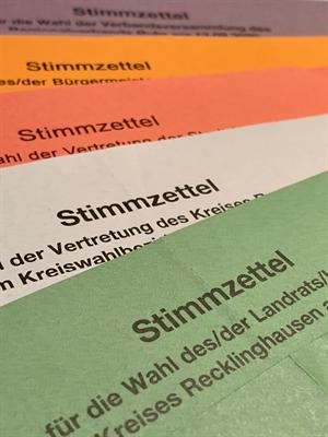 © Kreis Recklinghausen, Svenja Küchmeister - Stimmzettel Kommunalwahlen 2020