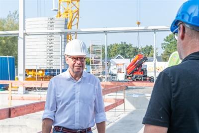 OB auf der Baustelle Bürgerbad