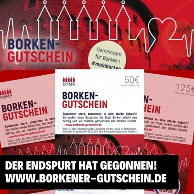 © Stadt Borken - Der Endspurt für den Borken-Gutschein hat begonnen.