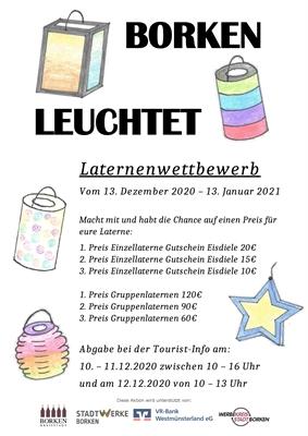"""© Stadt Borken - """"Borken leuchtet"""" – Laternenwettbewerb"""