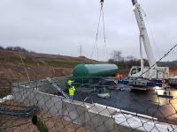 Neuer Sickerwassertank für die Deponie I