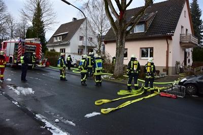 © Feuerwehr Hemer - An der Hedhofstraße brannte ein Trockner im Keller eines Wohnhauses