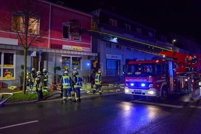 © Feuerwehr Hemer / Stock - Die Hauptstraße musste für die Dauer des Einsatzes gesperrt werden