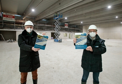 Baufortschritt Dreifachsporthalle Pascal-Gymnasium