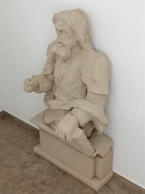 Nachdem die St. Paulus-Figur restauriert wurde, befindet sie sich nun im Untergeschoss im Südflügel des Schlosses Ahaus.